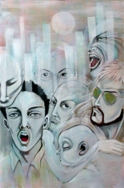Herwig Maria Stark, LIQUID(S)TATION, 160 x 105 x 4 cm, Acrylics on Belgian canvas, 2008_10