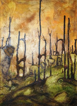 Jürgen Bley, FOLAITHE, 50 x 70 cm, Acryl, Mischtechnik auf Leinwand