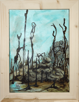 Jürgen Bley, TÙSAIL, Acryl auf Leinwand, 70 x 50 cm inkl. Holzrahmen 86 x 66 x 5 cm
