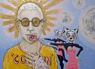 Herwig Maria Stark, COCA-IN, 100 x 140 cm, mixed media on canvas, 2012