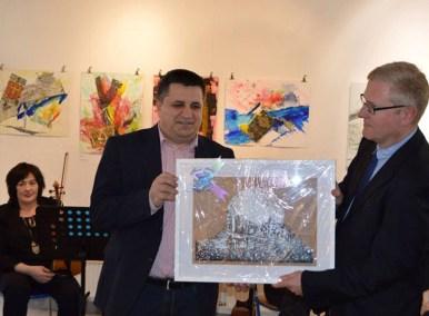 Bürgermeister Mirsad Mamutagic, Gesandter - Botschaftsrat Dr. Wolfgang Thill