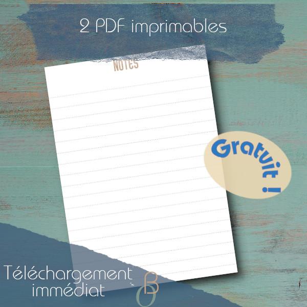 note printable