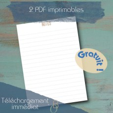 note printable
