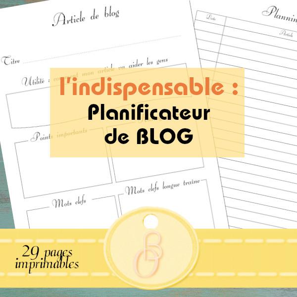planificateur de blog imprimable