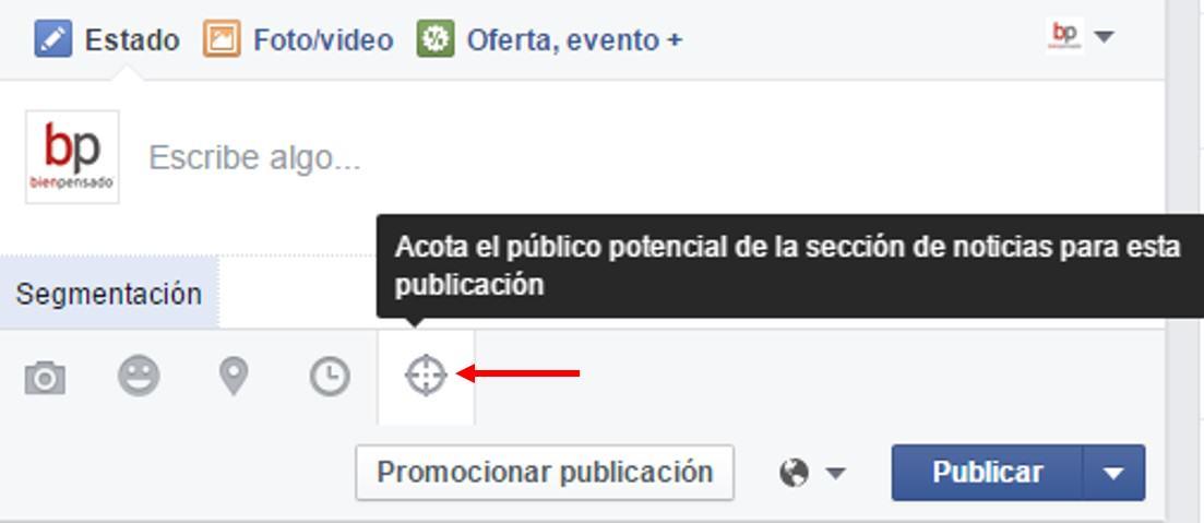 Facebook segmentar publicaciones