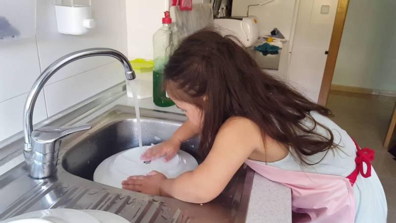 Esta niña no está sufriendo, está aprendiendo.