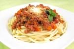 Delicioso espagueti a la boloñesa vegano