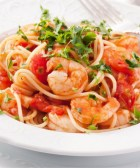 Espaguetis con camarones