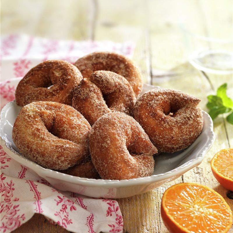 Deliciosas rosquillas de naranja