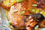 Delicioso salmón a la naranja