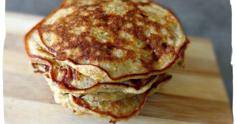 Pancakes à la banane {sans gluten, sans lait}