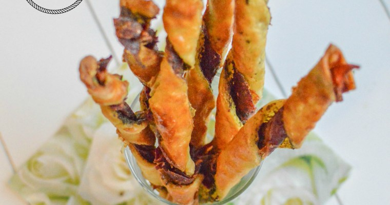 Bâtonnets feuilletés au jambon-pesto