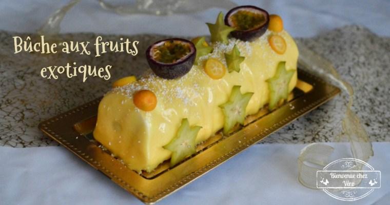 Bûche fruits exotiques sans gluten