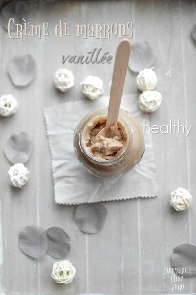 Bienvenue chez vero - Si vous voulez connaître la recette healthy de la crème de marrons maison à la vanille vous êtes au bon endroit. Non seulement c'est une pure merveille, mais en plus elle est sucrée au sirop d'érable qui a un index glycémique faible.