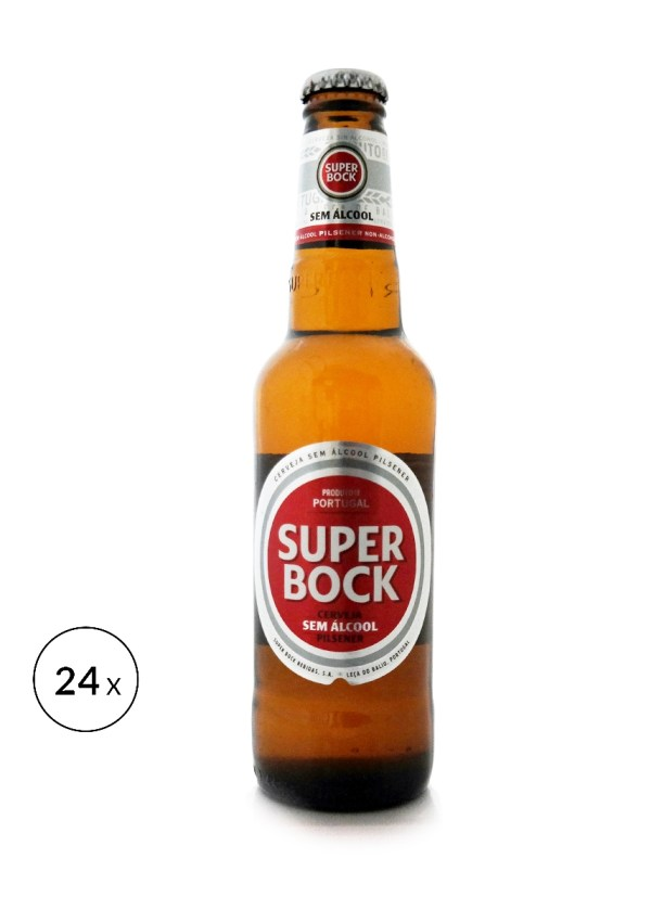 Super Bock Pilsner 0,5% • 24x 33cl Laag alcohol pecentage