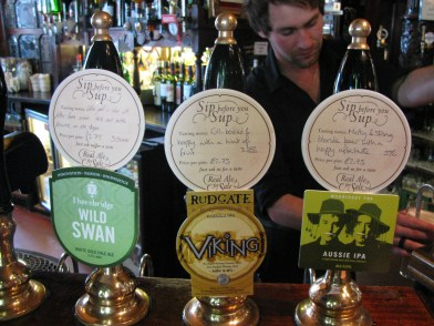 What is on cask?