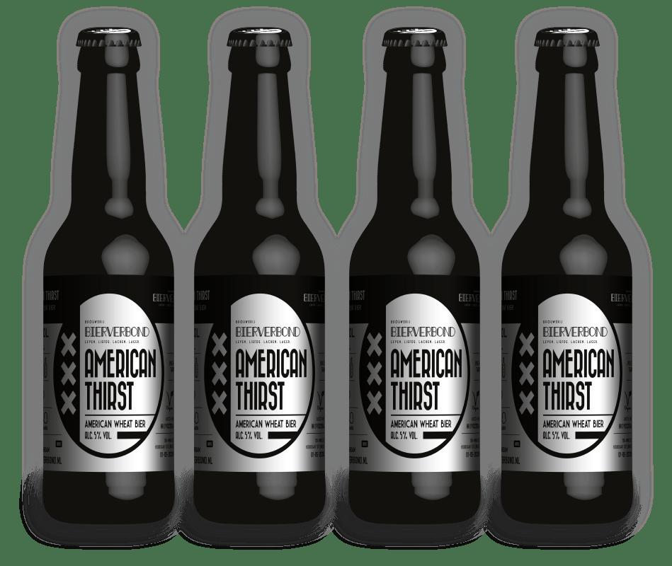 American Thirst - American wheat beer van Brouwerij Bierverbond Amsterdam