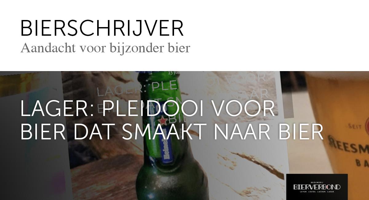 Bierschrijver: Pleidooi voor bier dat smaakt naar bier op Brouwerij Bierverbond Amsterdam