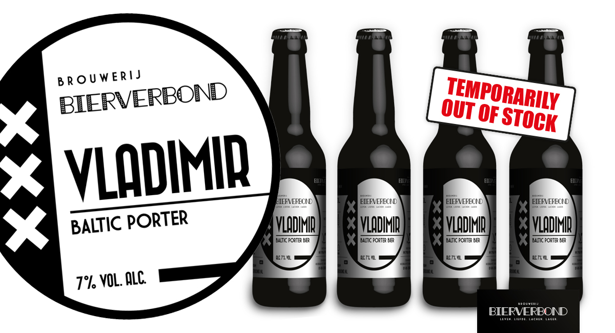 Vladimir temporarily out of stock bij Brouwerij Bierverbond Amsterdam