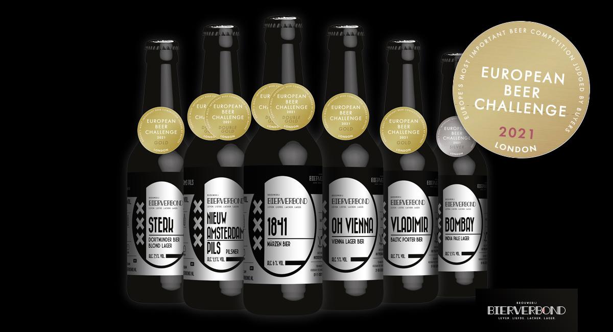 Onderscheidingen voor Bierverbond van het European Beer Challenge