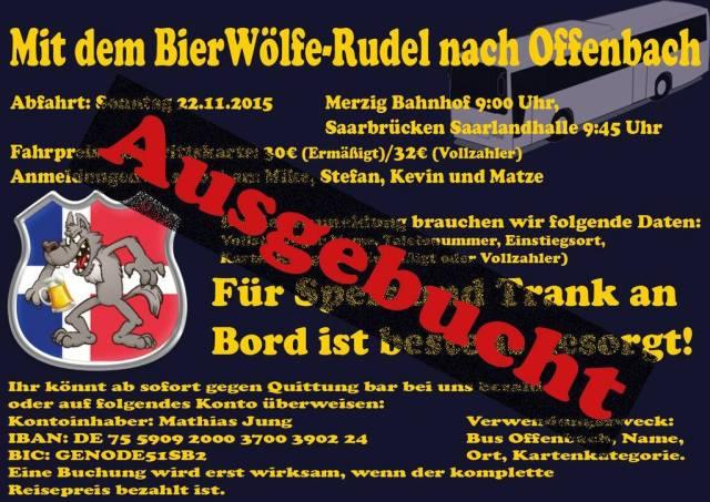 Ausgebucht BierWölfe-Rudel nach Offenbach