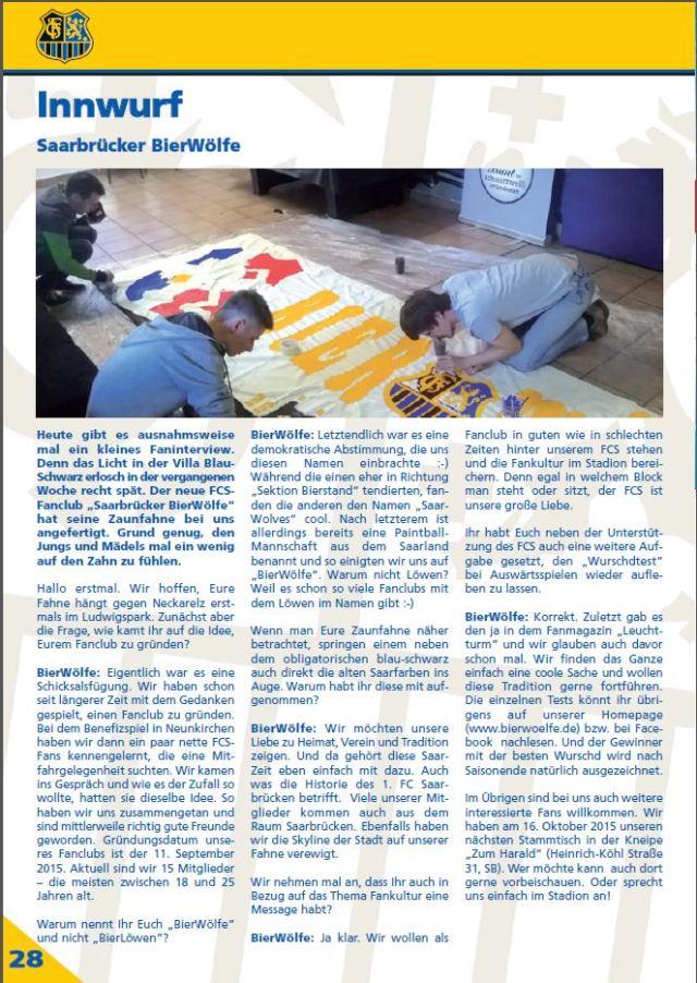 FC-Magazin Interview BierWoelfe