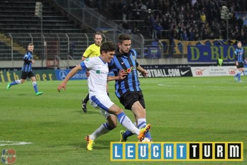 3. Liga Saison 2013/2014, 31. Spieltag, 1. FC Saarbrücken - Hansa Rostock 2:0 in Saarbrücken, Ludwigsparkstadion © 2014 Dennis Merl