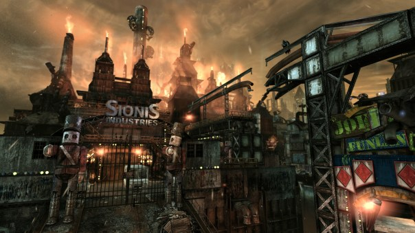 Arkham City in all its glory.