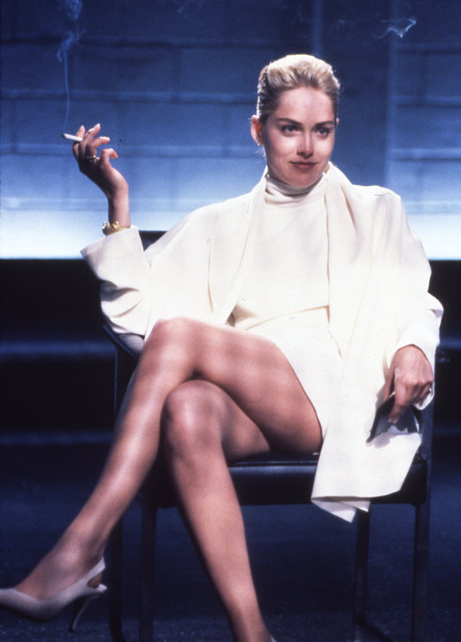 Sharon Stone flashes more than her wit as Catherine Tramell.