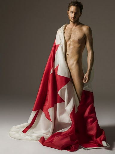Shawn Ashmore, standing on guard for Canada.