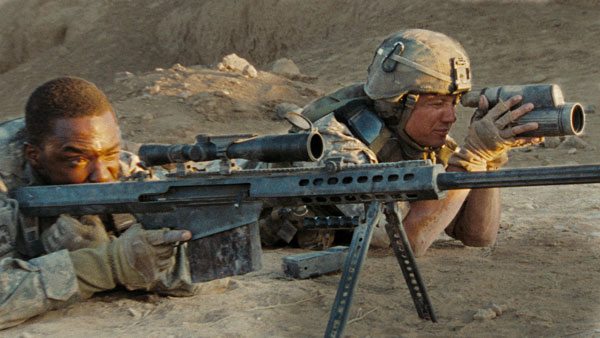 James Mackie (left) and Jeremy Renner in The Hurt Locker