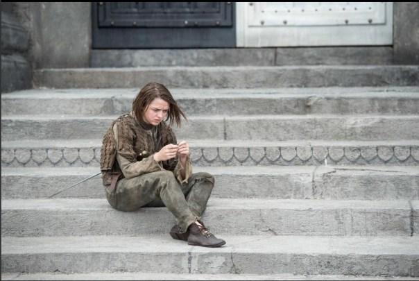 Arya on Steps
