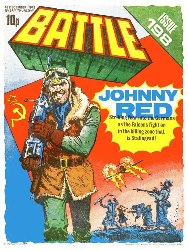 Cover of Battle Action 198. Joe Colquhoun, art.