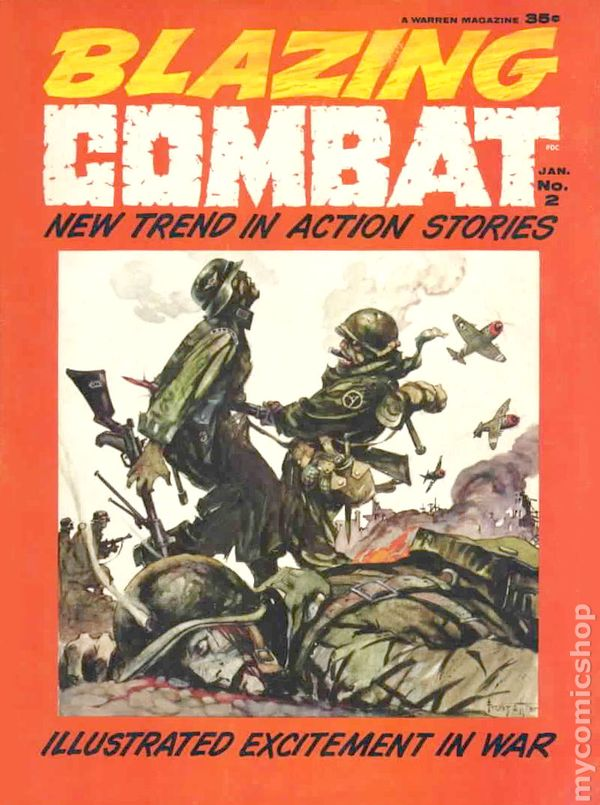 Cover of Blazing Combat #2, art by Frank Frazetta