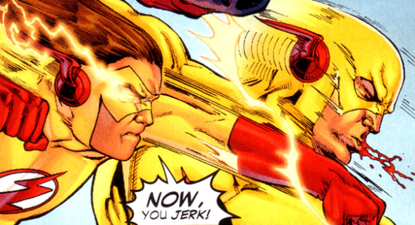 Kid Flash vs. the Reverse-Flash