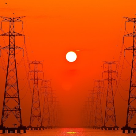 """Rows of towers and wires in the full South Korean sun - image for The Leftscape, Pagans, Prison, and Propaganda"""""""