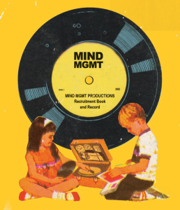 Mind MGMT Comic Book and Vinyl Record by Matt Kindt