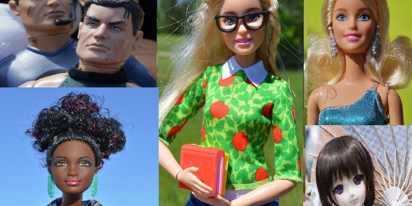 "dolls representing ""What We See on the Outside"" for The Leftscape podcast"