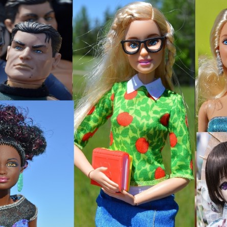 """dolls representing """"What We See on the Outside"""" for The Leftscape podcast"""