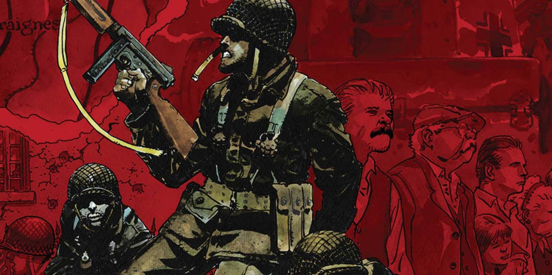 Six Days: The Incredible True Story of D-Day's Lost Chapter, Robert Venditti, Kevin Maurer, Andrea Mutti, Vertigo Comics, graphic novel, hardcover, war, history, World War II