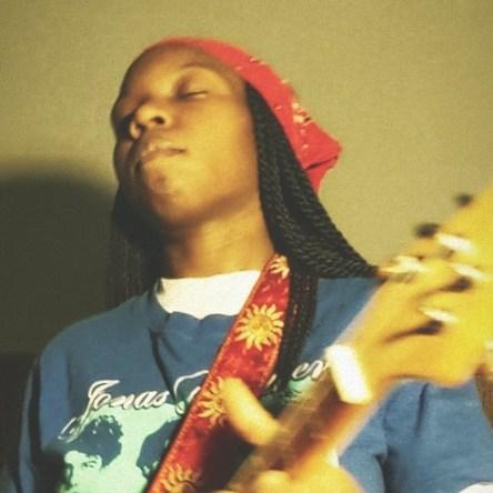 emospacebird playing guitar