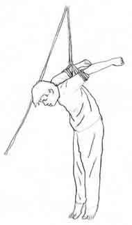 酷刑演示:上繩吊銬