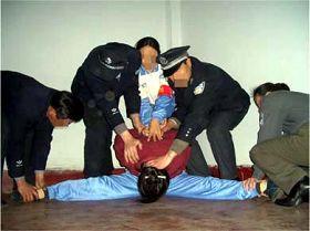 酷刑演示:強行將受害者的雙腿一字劈開