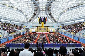 二零一二年台灣法輪大法修煉心得交流會在台灣台大綜合體育館隆重召開