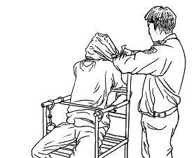 中共酷刑示意圖:人為窒息