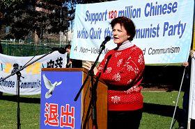 澳洲寰宇和平聯盟和澳洲婦女協會的發言人特蕾西•