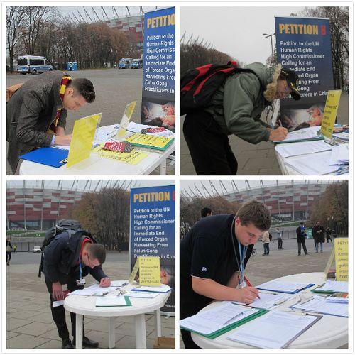 參加會議的各國家代表紛紛在徵簽簿上簽名