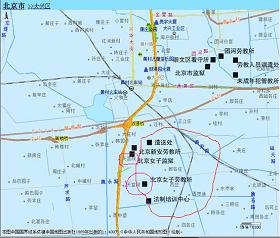 圖表1北京大興區地圖局部