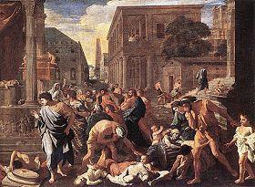 (圖3)油畫《阿什杜德的瘟疫》刻畫了當時第四次大瘟疫可怕的情景。