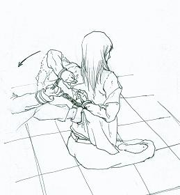 中共酷刑示意圖:背後綁手